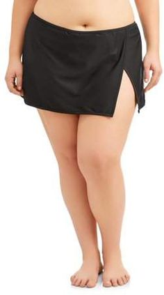 Time and Tru Women's Plus Core Skirted Swimsuit Bottom Plus Size Swimsuits, Swim Dress, One Design, Walmart, Core, Take That, Celebrities, Girls, Swimwear