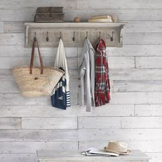 8 ways to get the dream country cottage look in every room of the house, according to a stylist - country cottage hallway storage - Hallway Storage, Wall Storage, Storage Ideas, Shelf Wall, Country Cottage Interiors, Cottage Style, Country Cottages, Cottage Hallway, Cottage Paint Colors