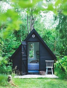 Sometimes, a gal just needs a moment to hersel. And a 45-minute nap in a padlocked hut finished with coordinating throw pillows. Read more: 'She Sheds' Are the New Man Caves | PureWow National