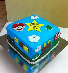 Super Mario birthday cake.