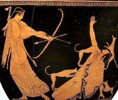 Ártemis y la muerte de Acteón, crátera (h. 470 a. C.) Museo de Bellas Artes de Boston