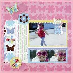 Look at Me Go Fabulous All Girl Additions #Scrapbooking Layout from Creative Memories    www.creativememor...