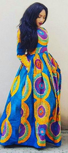 ~African fashion, Ankara, kitenge, Yes! African Fashion Ankara, African Inspired Fashion, African Print Fashion, Africa Fashion, Fashion Prints, Ghanaian Fashion, Fashion Design, Tribal Fashion, African Dresses For Women