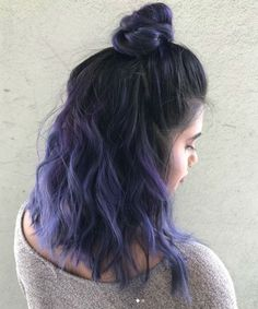 Absolutely Cool Half Updo Purple Hair Color and Hairstyles for Girls That Will Amaze Everyone Hair inspiration – Hair Models-Hair Styles Lavender Hair, Lilac Hair, Hair Color Purple, Cool Hair Color, Purple Ombre Hair Short, Lavender Colour, Purple Lilac, Pastel Hair, Dark Purple