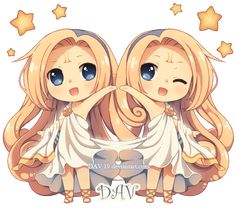 Chibi Gemini by *DAV-19 on deviantART