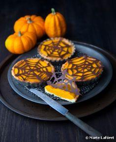 Recette bio : Mini pumpkin pies bio d'Halloween réalisés avec du tofou soyeux Soy