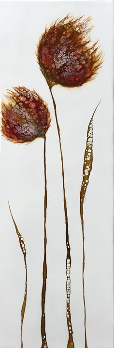 Tulip series 8x24 Encaustic