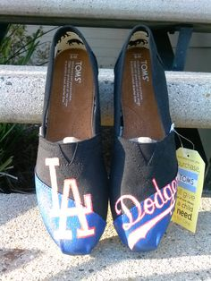 LA Dodgers Toms by www.Facebook.com/KicksByClutch