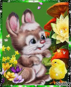 See the PicMix A happy hare. belonging to StellaStai on PicMix. Happy Easter Gif, Happy Easter Quotes, Baby Animals Pictures, Easter Pictures, Funny Pictures, April Easter, Easter Bunny, Animated Emoticons, Kitten Cartoon