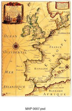 Map of Europe Decoupage Vintage, Vintage Maps, Antique Maps, Pirate Maps, Map Globe, Desenho Tattoo, Old Maps, Map Art, Paper