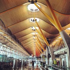 Barajas Airport by Richard Rogers, Rogers + Stirk + Harbour (it certainly has been renovated since I was there!) gorgeous