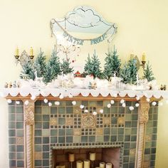 Christmas Mantels - Google Search