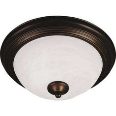 Essentials 3-Light Oil-Rubbed Bronze Flushmount