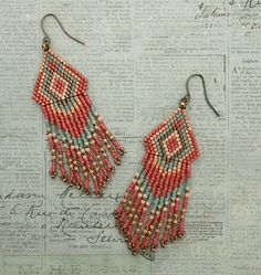 Native American Fringe Earrings - #78