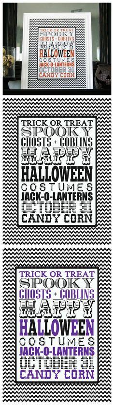 Free Printable Halloween Subway Art