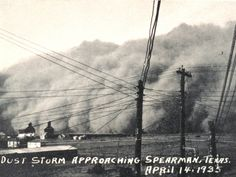 """On April 14, 1935, known as """"Black Sunday"""", 20 of the worst """"black blizzards"""" occurred throughout the Dust Bowl, causing extensive damage and turning the day to night; witnesses reported they could not see five feet in front of them at certain points."""