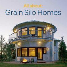 Converted grain silo homes