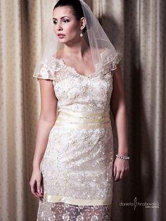 Svadobné šaty Lenka by danielahrabovska - SAShE.sk - Handmade Šaty