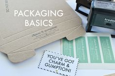 charm & gumption blog: ONLINE SHOP PACKAGING BASICS, WHAT YOU NEED