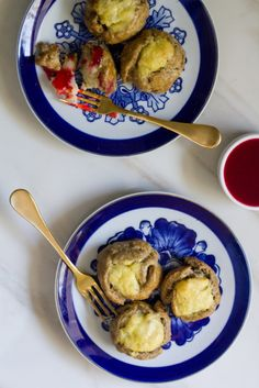 Mashed Potato Pumpkin Spice Knishes with Cranberry Mustard Sauce. Great for Thanksgiving!