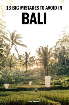 Jan 2020 - 13 big mistakes you'll want to avoid on your trip to Bali! We'll tell you about the places to avoid, the dangers and all the things which can derail your holiday in paradise. Bali Travel Guide, Thailand Travel, Asia Travel, Travel Guides, Travel Tips, Cambodia Travel, Croatia Travel, Bangkok Thailand, Travel Hacks