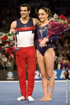 Top female and male gymnasts