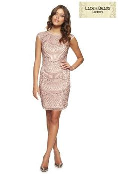 805625cde5 Buy Lace And Beads Tear Drop Dress from the Next UK online shop Christmas  Wedding Outfits