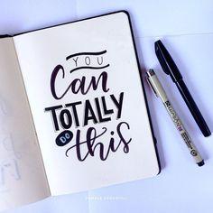 Então faça! . #handmade #handlettering #handletteringbrasil #lettering #handwriting #handwritten #caxiasdosul #youcandoit #quotes #inspirationalquotes #inspirational