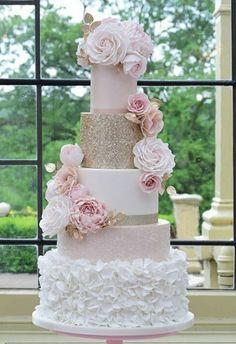 60 Elegant And Beautiful Wedding Cakes You'll Like – Page 30 of 60 – Romantic Wedding Cake Blush Wedding Cakes, Luxury Wedding Cake, Floral Wedding Cakes, Wedding Cake Rustic, Elegant Wedding Cakes, Floral Cake, Beautiful Wedding Cakes, Wedding Cake Designs, Beautiful Cakes