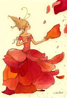 it's all in the imagination! Art And Illustration, Creative Illustration, Floral Illustrations, Cute Images, Wonderful Images, Dragons, Fantasy Love, Land Art, Whimsical Art
