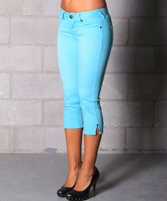 Another great find on #zulily! Sea Blue Emily Capri Jeans by Lola Jeans #zulilyfinds