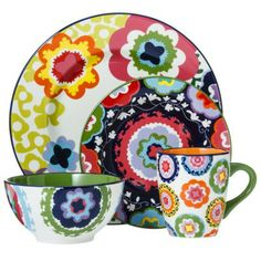 Oui by French Bull 4-piece Stoneware Dinner Set - $35 at Target