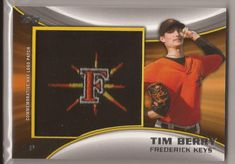 Tim Berry 2014 Topps Pro Debut Hat Logo Patch Serial #18/99     MINT FROM PACK  #TimBerry2014ToppsProDebutHatLogoPatchSeri