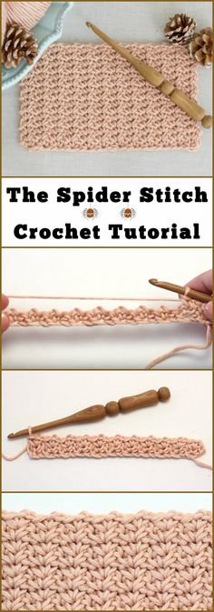 The Spider Stitch Crochet Tutorial Each and every crocheter have a desire of learning some of the most beautiful and extraordinary stitch techniques. Sometimes we even come to a necessity … Stitch Crochet, Tunisian Crochet, Learn To Crochet, Crochet Things, Crochet Stitches Patterns, Knitting Stitches, Stitch Patterns, Different Crochet Stitches, Crochet Crafts