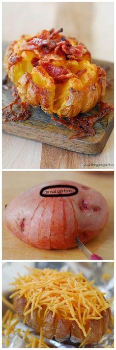 Bloomin' Baked Potato Recipe | Tastefulonly