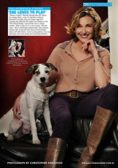 Today on my OK! Pets feature we highlight Brenda Strong  one of the stars of the new Dallas. Brenda poses with her beautiful puppy Skye. Pick up a copy on stands today.