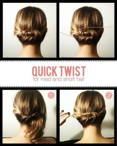 Quick Twist for med and short hair