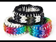 The Rainbow Loom craze is in full swing! Rainbow loom bracelets are totally trending in the world of The Rainbow Loom patterns on this list are intricate and extraordinary, and they go above and beyond the standard Rainbow Loom designs youve seen. Rainbow Loom Bracelets Easy, Loom Band Bracelets, Rainbow Loom Tutorials, Rainbow Loom Patterns, Rainbow Loom Creations, Rainbow Loom Bands, Rubber Band Bracelet, Crazy Loom, Loom Craft
