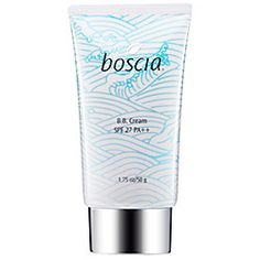 Boscia BB Cream - good for your skin and better than tinted moisturizer. I sometimes wear it alone and it makes my skin look naturally even toned.