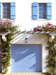 Periwinkle Garage Door