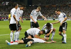 Lars Bender's game winning goal. Denmark vs Germany 1:2