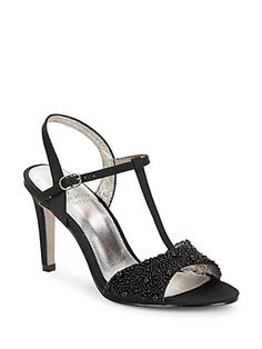 Adrianna Papell Alia Embellished T-Strap Sandals