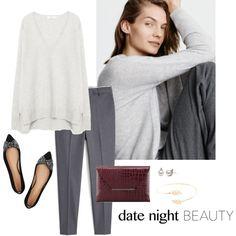 Date Night by bluehydrangea on Polyvore featuring Zara, MANGO, Tory Burch, BCBGMAXAZRIA, Accessorize, women's clothing, women's fashion, women, female and woman