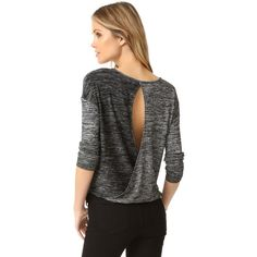 Rag & Bone/JEAN Mia Long Sleeve Tee ($160) ❤ liked on Polyvore featuring tops and t-shirts