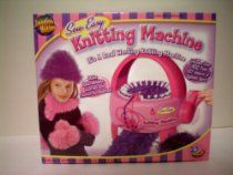 Sew Easy Knitting Machine by Imagine Nation -- It's a Real Working Knitting Machine -- Includes Over 400 Feet [127 meters] of Eyelash Yarn -- Make Hats, Mittens, Scarves and Fashion Accessories -- NEW IN BOX