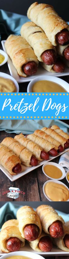 These delicious homemade pretzel dogs are delicious for the whole family! The pretzel is even better than your favorite place at the mall...yummm!