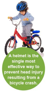 More children ages 5 to 14 are seen in emergency rooms for injuries related to biking than any other sport. Helmets can reduce the risk of severe brain injuries by 88 percent – yet only 45 percent of children 14 and under usually wear a bike helmet. Bicycle Safety, Brain Injury, Head Injury, Sport Quotes, Living At Home, Sport Motivation, Injury Prevention, Kids Videos, Kids Health