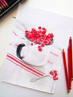 Colored pencils drawing by Klaudia Cymorek