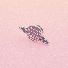 Pink & purple hued hard enamel planet pin, with butterfly clutch on the reverse. Teeny enough to adorn your bag, lapel, pocket or whatever you fancy. Purple Hues, Pink Purple, Pins Badge, Bag Pins, Cool Pins, Pin And Patches, Up Girl, Lapel Pins, Pin Collection