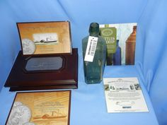 SS Republic Shipwreck Artifact Bottle and 1861 Seated Liberty Coin